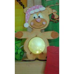 Leuchti Teddy 23 cm / 35 cm  inkl. 7cm  bzw. 12cm Acrylglas-Kugel mit Geldschlitz oder Loch