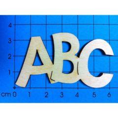"""Schriftzug """"ABC"""" in verschiedenen Größen"""