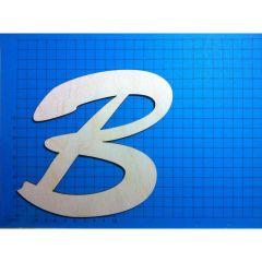 ABC Holz Großbuchstaben Schreibschrift 150mm natur, passende Kleinbuchstaben vorrätig