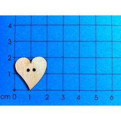 Knopf: Herz geschwungen in verschiedenen Größen