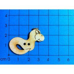 Knopf: Bücherwurm verschiedene Größen