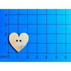 Knopf: Herz symmetrisch