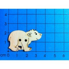 Knopf: Eisbär 35 mm lang