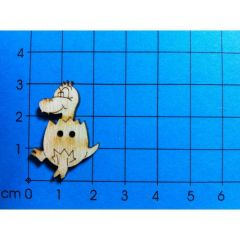 Knopf: Dino im Ei 30 mm