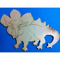 Holz DINOSAURIER TRICERATOPS 30mm - 160mm