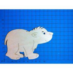 Holz Kleinteile laufender Eisbär, Bär 30mm - 400mm