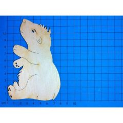 Holz Kleinteile sitzendes Eisbär, Bär 50mm - 400mm