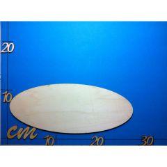 Ovales Türschild aus 5 mm Holz in verschiedenen Größen