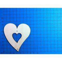 Herz Holz ab 30mm mit Herzausschnitt