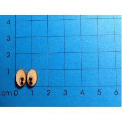 """Augenpaar """"Oval"""" mini, klein oder groß u.a FÜR SORGENFRESSER"""