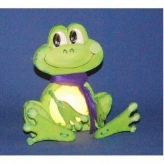 Schlenker Frosch 18 cm / 31 cm  inkl. 7cm  bzw. 12cm Acrylglas-Kugel mit Geldschlitz oder Loch