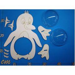 Pinguin  22 cm / 30 cm  inkl. 7cm  bzw. 12cm Acrylglas-Kugel mit Geldschlitz oder Loch