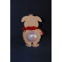 Schwein Porky 20 cm / 33 cm  inkl. 7cm  bzw. 12cm Acrylglas-Kugel mit Geldschlitz oder Loch