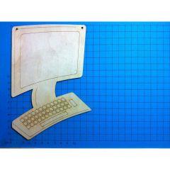 Computer 180 mm Türschild mit 2 Löchern