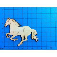 Holz Kleinteile gelasert Pferd springend 60mm - 380mm