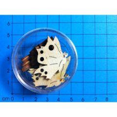 Schmetterling Seitenansicht 30 mm in Dose ca. 11 Stück