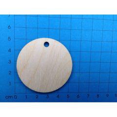 Kreis 50mm aus Holz mit Loch