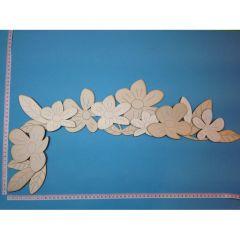 """Türkanten-Deko """"Blumen"""" ca. 58cm, links"""