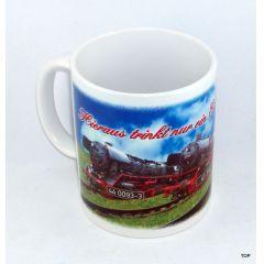 Tasse Eisenbahnliebhaber mit drei Loks Kaffeetasse Kaffeebecher Keramik Neu!!