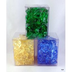 Deko Steine Ziersteine Streuteile Streudekoration glänzende Dekosteine in drei verschiedenen Farben