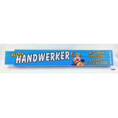 Zollstock Bester Handwerker Gliedermaßstab aus Buchenholz mit witzigem, humorvollem Spruch