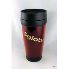 Thermobecher Sachsen Sglatschtglei rot Kaffeebecher Sprüche sächsisch Becher DDR Ostalgie