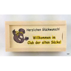 Geldkiste Club der alten Säcke zum Geburtstag ab 50 Geschenkidee für Männer