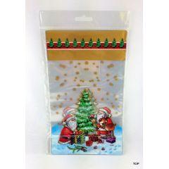 Beutel mit Boden 8er Pack Weihnachtsmotive 14,5x23,5 cm Weihnachten Folie-Beutel Geschenkverpackung