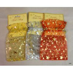 Weihnachts-Organzabeutel  Decorative Gift Bag Größe ca. 25 x 19cm