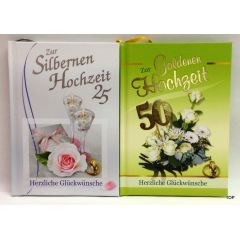 Zur Silbernen oder Goldenen Hochzeit Herzliche Glückwünsche Geschenkbüchlein Glückwunschbuch