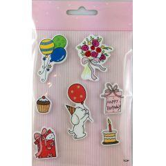Deko Aufkleber Set Glamour Sticker Edel Sticker mit Glitter Partikeln Tolle Deko  Accessoires zum Verzieren