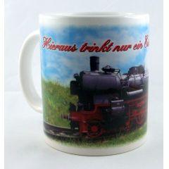 Tasse  Eisenbahnliebhaber Kaffeetasse Kaffeebecher Porzellan Geschenkidee Deko Liebhaber