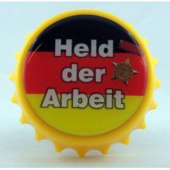 Kapselheber Held der Arbeit Flaschenöffner Magnet DDR
