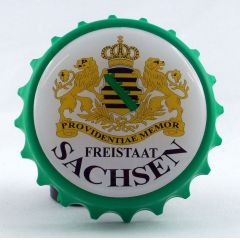 Kapselheber Sachsen sächsischem Wappen Flaschenöffner Magnet DD, sächsisch Ostalgie Geschenkidee