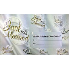 """Geldgeschenk Umschlag Hochzeit  Riesen-Umschlag """"Just Married"""" zur Hochzei -Verpackung Geldgeschenk"""