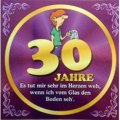 Flaschenetikett Bier 30.Geburtstag Jubiläum Geschenkidee Präsent