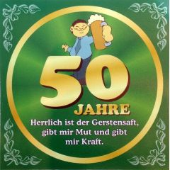 Flaschenetikett Bier 50.Geburtstag Jubiläum Geschenkidee Präsent