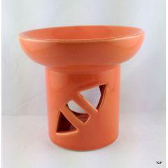 Duftlampe  Duftstövchen  Aromaduftlampe aus Keramik mit farbigem Lack überzogen