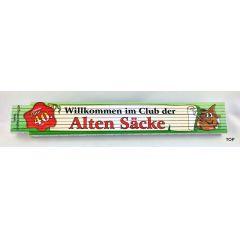 Zollstock Alter Sack 40 Zollstock Gliedermaßstab aus Buchenholz mit witzigem, humorvollem Spruch