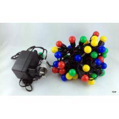 50er-LED-Multicolor-Lichterkette-Party-Feste-Weihnachten-Innen-und-Aussenbereich 5m
