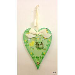 Herz aus Holz Dekoherz Dekohänger Holzherz farbig bedruckt Hängen