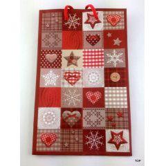 Geschenktüte Weihnachtstüten Papiertüte  matt Weihnachtstasche 18,5 x 12 x 6 cm