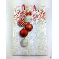 Geschenktüten Weihnachtstüte Christbaumkugel Papiertüte glänzend Weihnachtstasche 18,5x12x6 cm