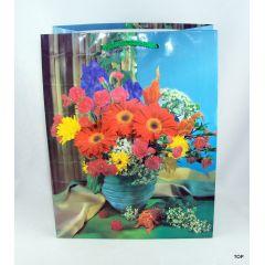 Geschenktüte Blumenstrauß hübsche Verpackung für Ihre Geschenke Maße:  23 x 18 x 10 cm