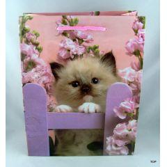 Geschenktüte  Präsenttüte mit Tiermotiv Katzenbabys Maße:  23 x 18 x 10 cm