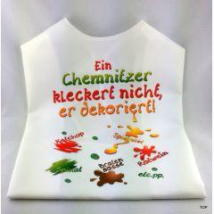 XL Latz - Ein Chemnitzer kleckert nicht, er dekoriert Lätzchen für Erwachsene witzige Party Gag Geburtstag