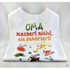 XL Latz - Oma kleckert nicht, sie dekoriert Lätzchen für Erwachsene witzige Party Gag Geburtstag Scherzartikel