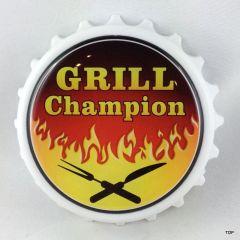Kapselheber mit Magnet Grill Champion Geburtstag Geschenkidee