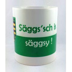 """Tasse """"Säggs sch is...Kaffeetasse Sachsen Porzellan Deko Ostprodukt Ossi Sachsen"""