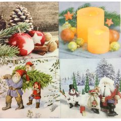 20er Pack 61533 Weihnachtsservietten 33x33 cm  Home Fashion